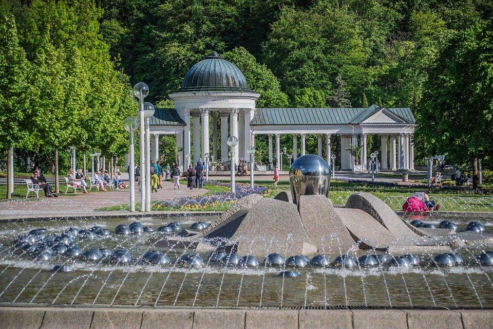fontána v Mariánských Lázních