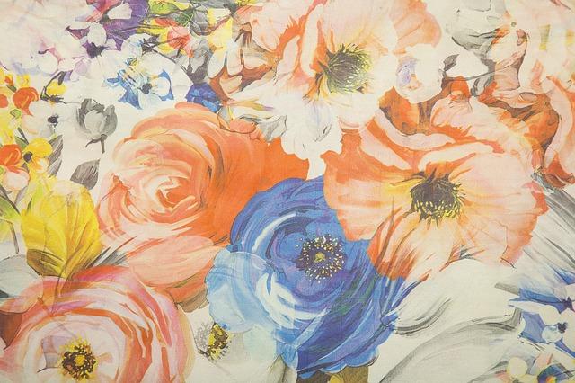 květinová tkanina