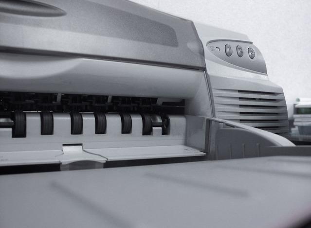 detail tiskárny typu DeskJet